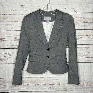 H&M Gray Women's Two Button Blazer Sz 4!